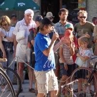 Visite guidée de l'exposition du Caylar 29 août 2016