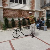 démonstration du Star Bicycle à la bibliothèque de St Omer